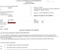 John Deegan Warrant