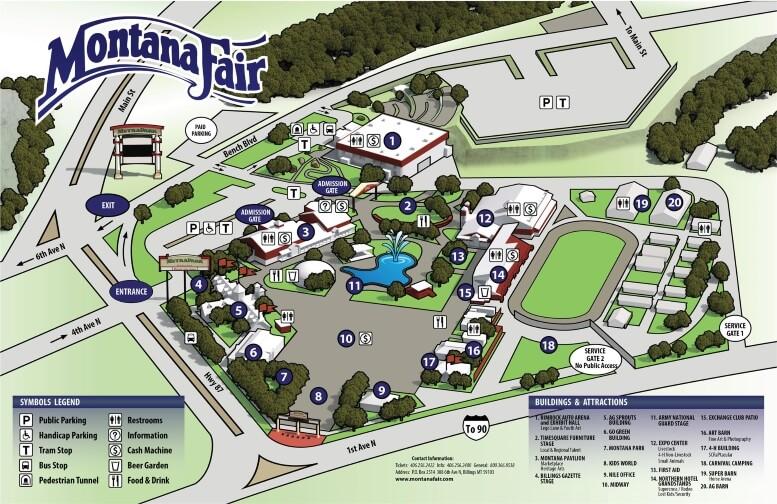 2017 Montana Fair Event Map