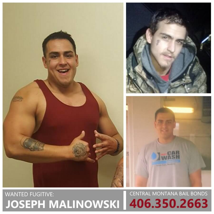 Joseph Malinowski Wanted Fugitive in Whitefish, Mt and Dillon, MT