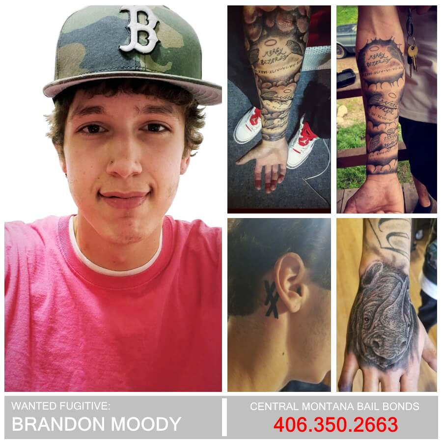 Brandon Moody Wanted Fugitive